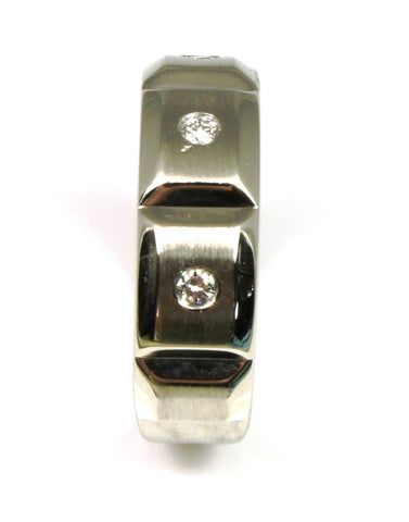 6mm Satin Mens .15ctw Diamond Band