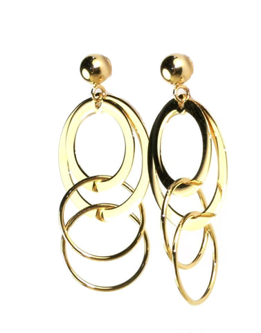 Multi Circle Dangle Earrings by Carla & Nancy B