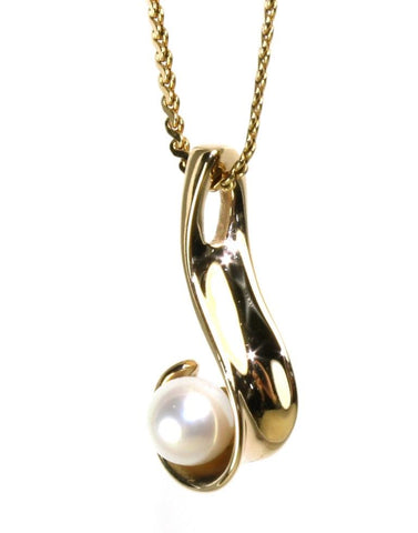 Akoya Pearl Swirl Necklace