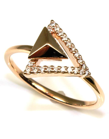 Diamond Arrow Ring by Allison Kaufman