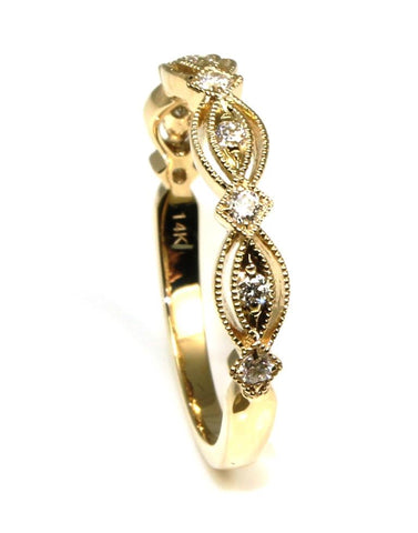 Fancy Diamond Stacking Band by Allison Kaufman