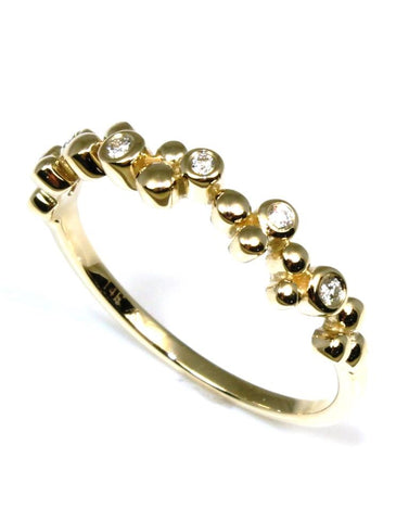 Diamond Bubble Stacking Ring by Allison Kaufman