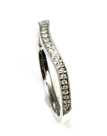 Diamond Milgrained Curved Band by Allison Kaufman