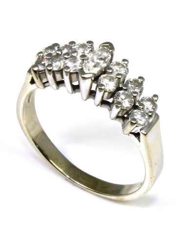 .63ctw Diamond Pyramid Style Fashion Ring