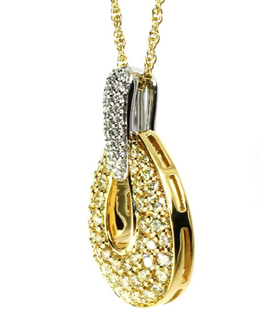 1.36ctw Yellow and White Diamond Dazzle Necklace by Allison Kaufman