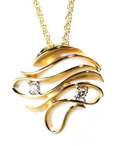 Diamond Freeform Wave Necklace by Allison Kaufman