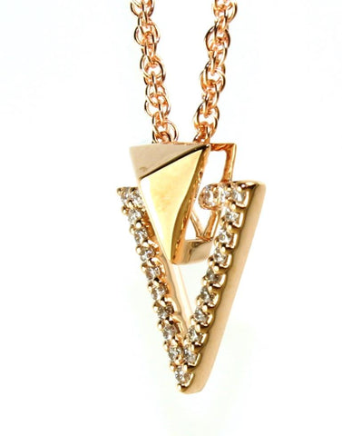 Diamond Arrow Necklace by Allison Kaufman