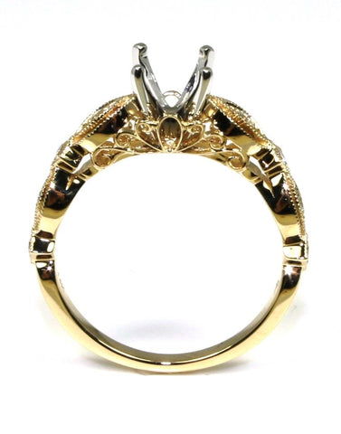 Diamond Milgrain Ring Setting by Allison Kaufman