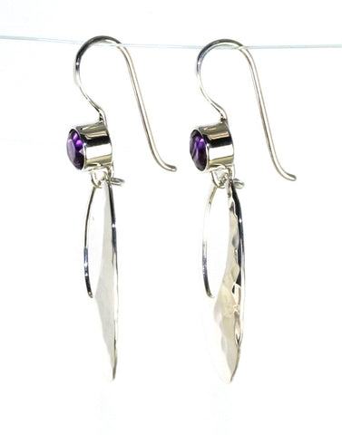 Cleo Amethyst Dangle Earrings by Ed Levin