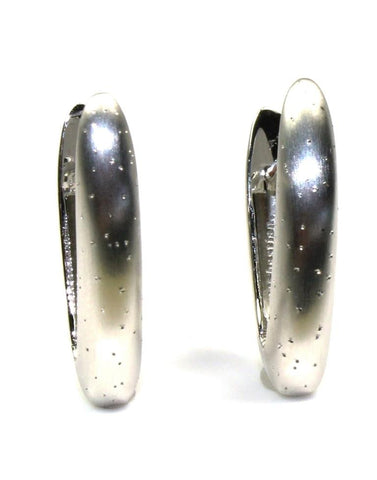 Diamond Dust V Hoop Earrings by Bastian Inverun