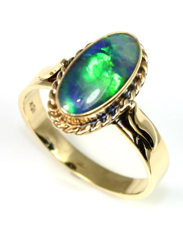 Oval Opal Triplet Ring