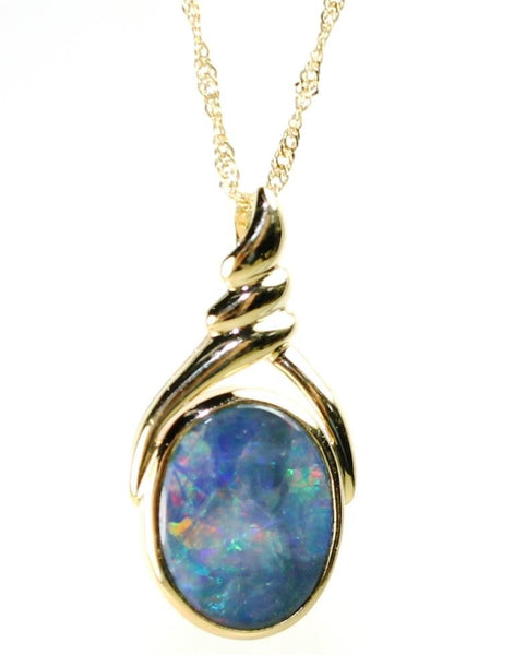 Oval Opal Doublet Necklace