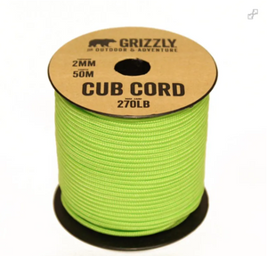 Paracord 550. Grizzly Bushcraft - Cub Cord
