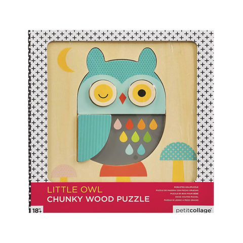 Little Owl Wood Puzzle - Petit Collage