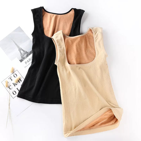 Winter Thermal Underwear Women's Tops Gold Velvet Vest (V2131)