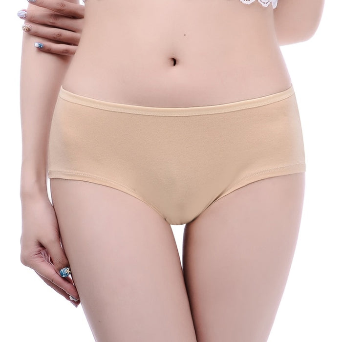 Pack of 7 Breathable Cotton Plain Panties - P1363 - The Women Wears