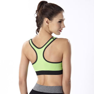 2 in 1 Front Zipper Breathable Bamboo Fabric Sports Bra - 4 Colors ( ZFS1 ) - The Women Wears