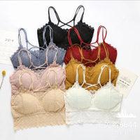 Pack Of 2 Lace Bralette Padded Camisole Bra (1128)