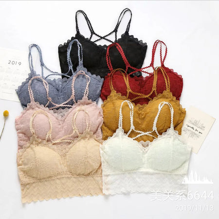 Lace Bralette Padded Camisole Bra (1128)