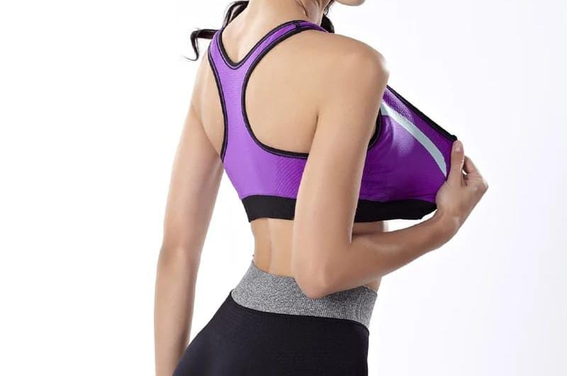 2 in 1 Bamboo Fabric Front Zipper Sports Bra in 4 Colors ( ZFS1 )