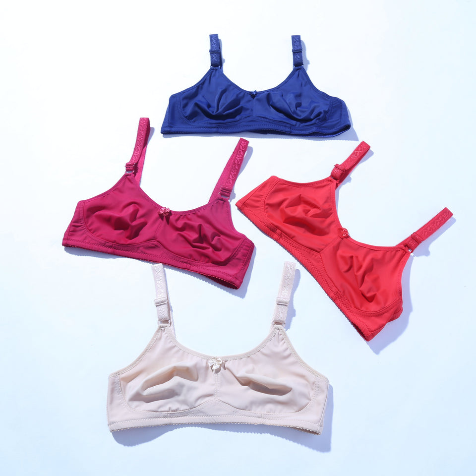 Breathable Non Padded - Pack of 4 (1009) - The Women Wears