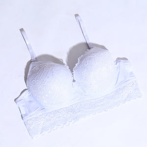 Women Lace Padded Bra - White ( 1064 ) - The Women Wears