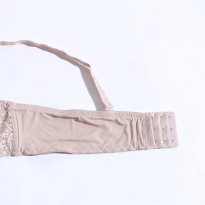 Padded Non-Wired Bra With Lace - Beige ( 1071 ) - The Women Wears