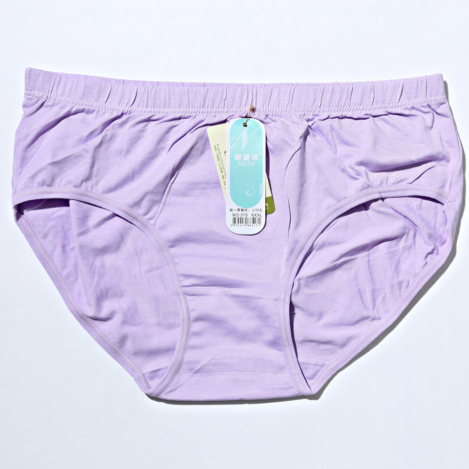 Breathable Cotton Women Underwear - Light Purple (756) - The Women Wears