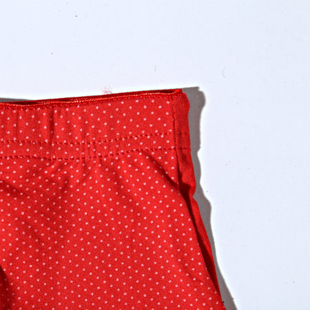 Breathable Cotton Women Underwear Biege - Red Dotted (751) - The Women Wears