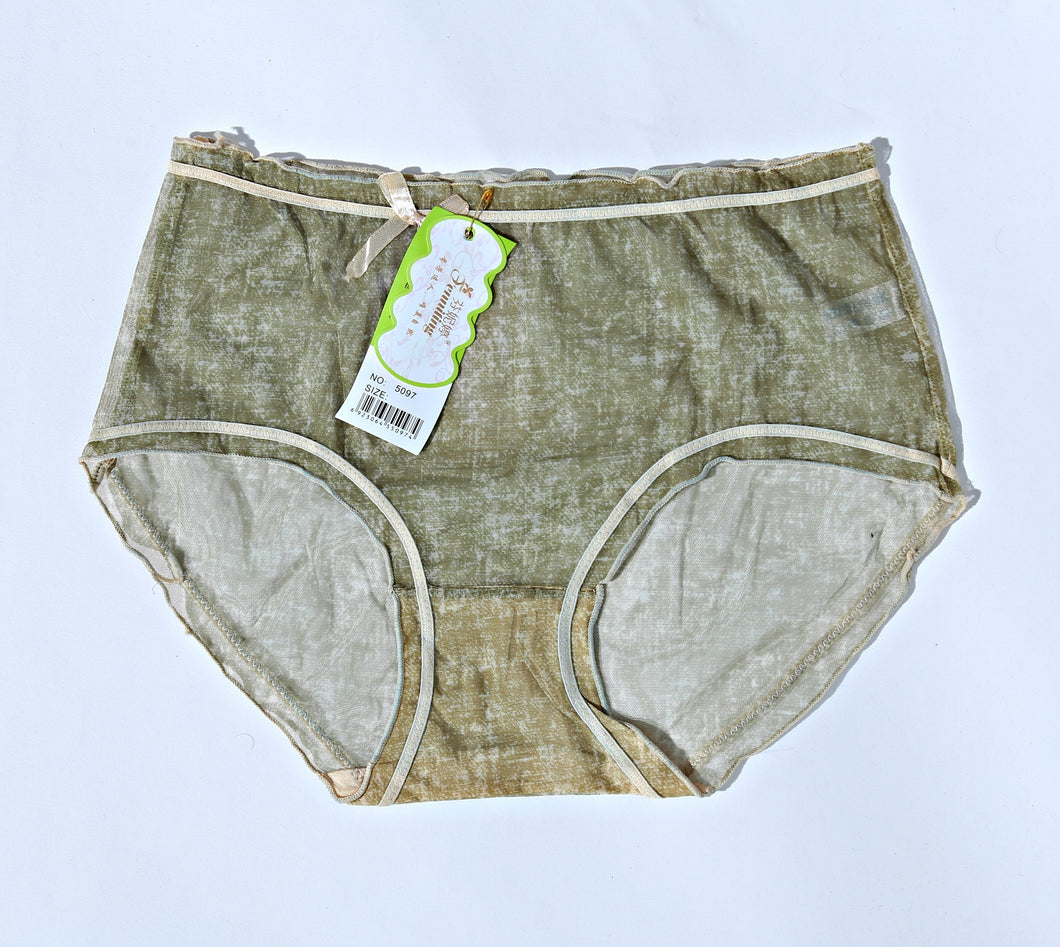 Breathable Cotton Net Women Underwear - Pickle Green (769) - The Women Wears