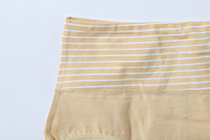 Mid Waist Cotton Contrast Beige Underwear (575) - The Women Wears
