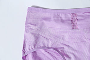 Mid Waist Cotton Orchid Underwear (569) - The Women Wears
