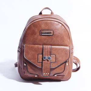 Pure Leather Back Pack Dark Brown  ( BP-036 ) - The Women Wears