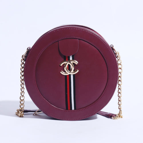 MINI CIRCLE CHANEL MARMONT BAG WITH CHAIN SHOULDER ( B-004 ) - The Women Wears