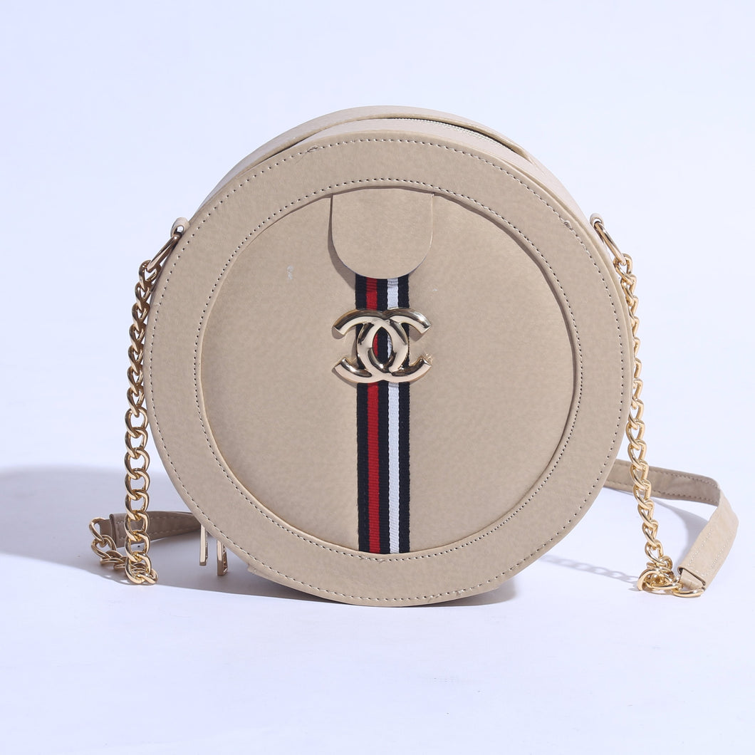 MINI CIRCLE CHANEL MARMONT BAG WITH CHAIN SHOULDER ( B-005 ) - The Women Wears