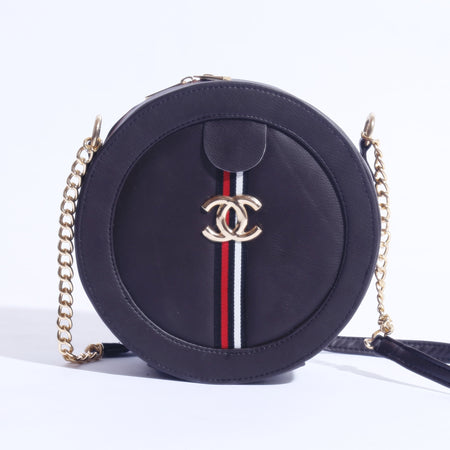 MINI CIRCLE CHANEL MARMONT BAG WITH CHAIN SHOULDER ( B-006 ) - The Women Wears