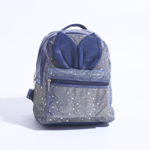 Mini Back Pack With Rabbit Ears SHINY BLUE ( BP- 018 ) - The Women Wears