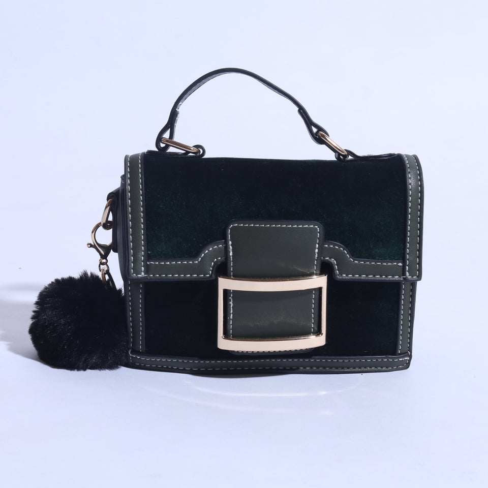 Mini Shoulder Bag With Pure Leather ( C- 050  ) - The Women Wears