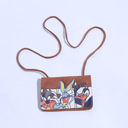 5 Pocket Brown Crossbody Mini Rabbit Bag With Long Strap ( B - 012 ) - The Women Wears