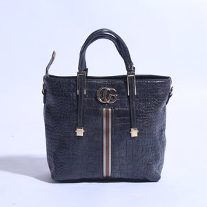 Pure Leather Hand Bag Black (B -  030 ) - The Women Wears
