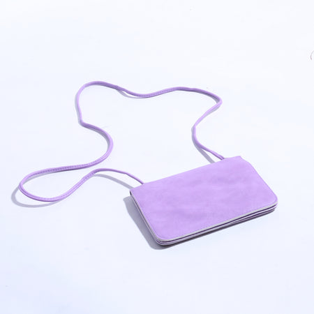 5 Pocket Purple Crossbody Mini Rabbit Bag With Long Strap ( B - 013 ) - The Women Wears