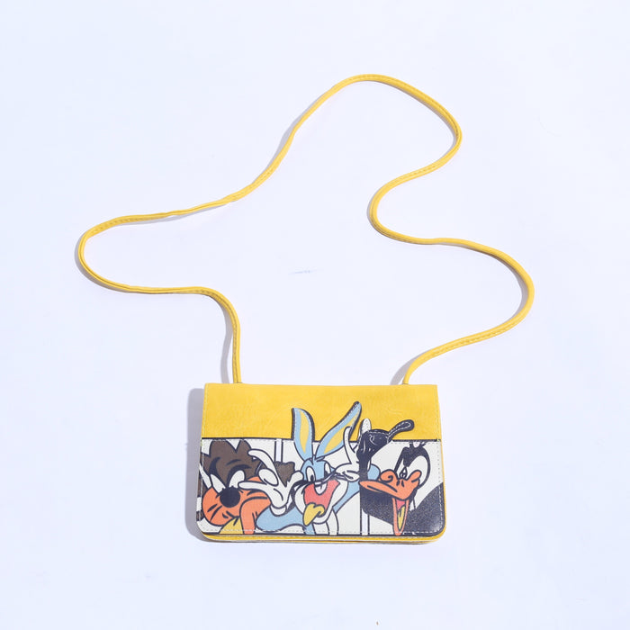 5 Pocket Yellow Crossbody Mini Rabbit Bag With Long Strap ( B - 009 ) - The Women Wears