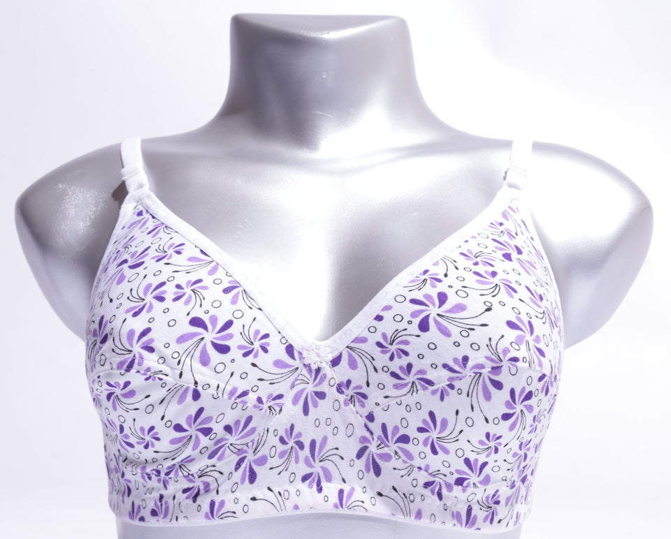 COMFORTABLE BREATHABLE NON PADED GALAXY BRA 863) - The Women Wears