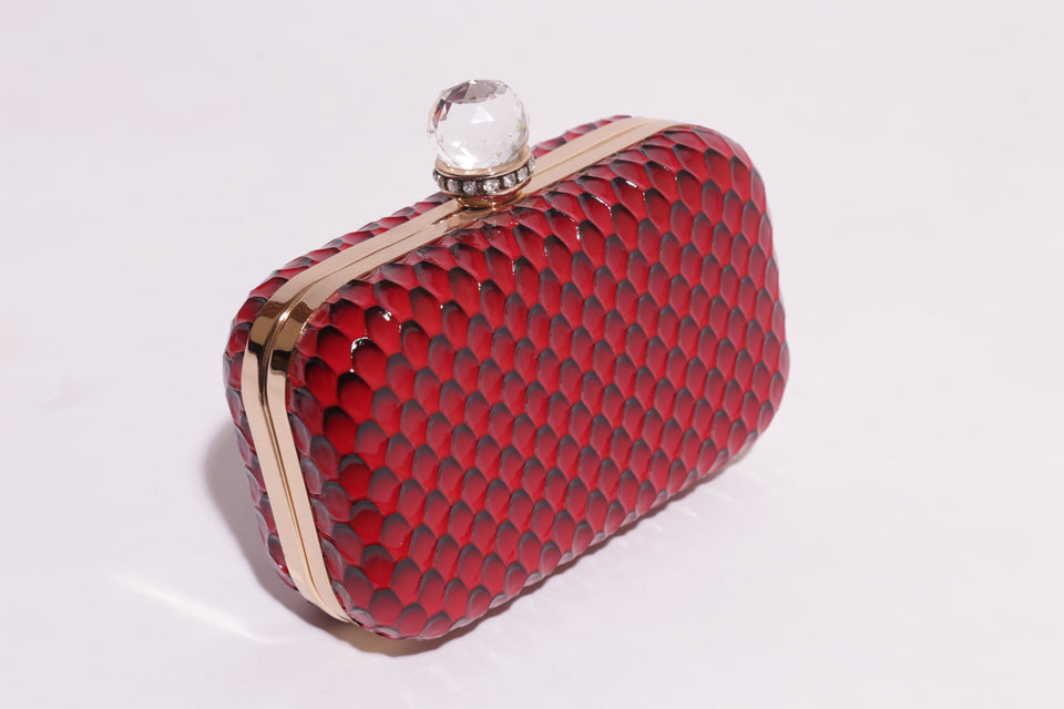Clutch bag With Rhinestone Clasp & Beautiful Texture - 160 (743) - The Women Wears
