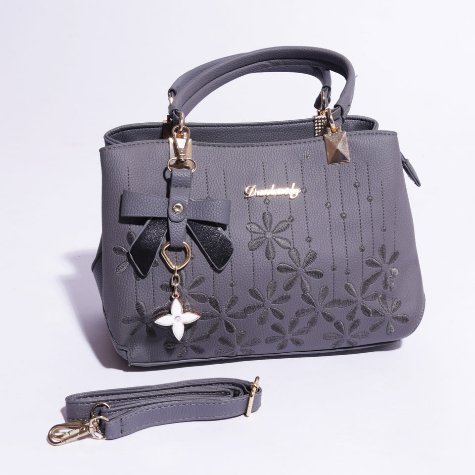 Flowers Design Faux Leather Handbag For Women - 145 ( B - 054 ) - The Women Wears