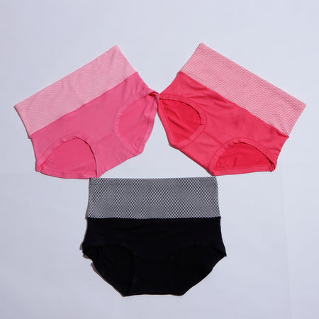 PACK OF 7 BREATHABLE SOFT COTTON PANTIES ( 1342 ) - The Women Wears