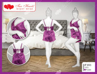 New Style Ladies Exotic Lace Sleepwear Lingerie - Purple (1167)