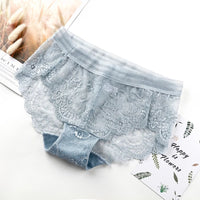 PACKS OF 7 BREATHABLE SOFT COTTON PANTIES WITH LACE (1133)