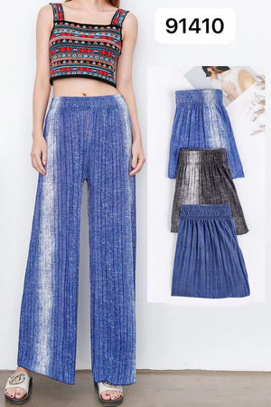 Pack of 2 Women's Contrasted Printed Palazzo Pants