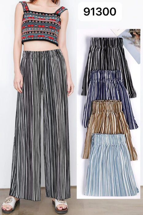 Pack of 2 Women's Flared Printed Palazzo Pants